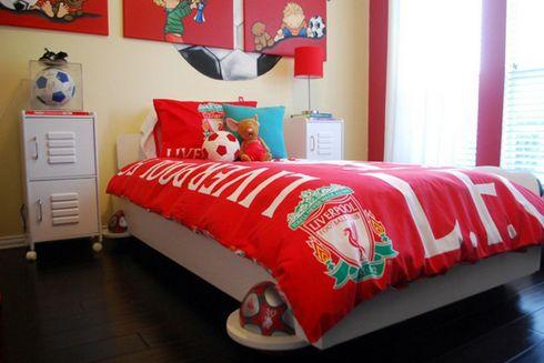 дизайн детской спальни на футбольную тему