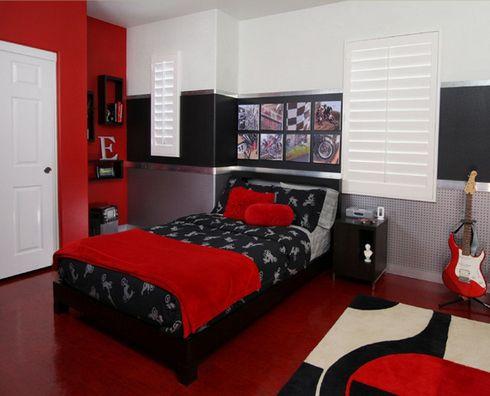 интерьер спальни подростка байкера