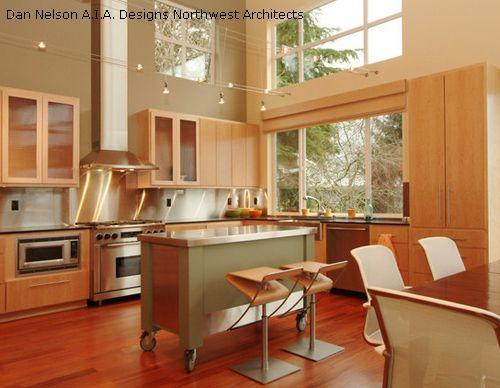 элегантный мобильный кухонный остров