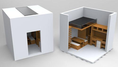 концепт обустройства студии на 9 м2