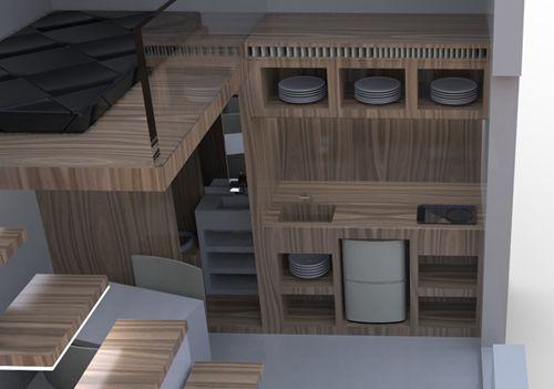дизайн минималистичной студии площадью 9 м2
