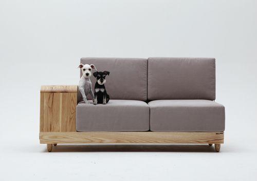 дизайнерский диван с кроватью для собак