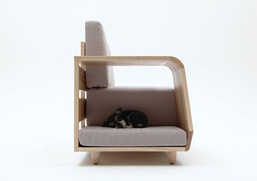 дизайн мягкой мебели с интегрированной кроватью для собак