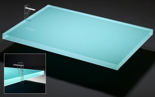 журнальный столик в виде бассейна