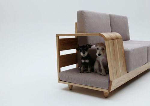 мягкая мебель с домиком для собак
