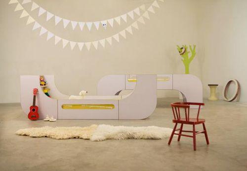 раскладная детская двухъярусная кровать