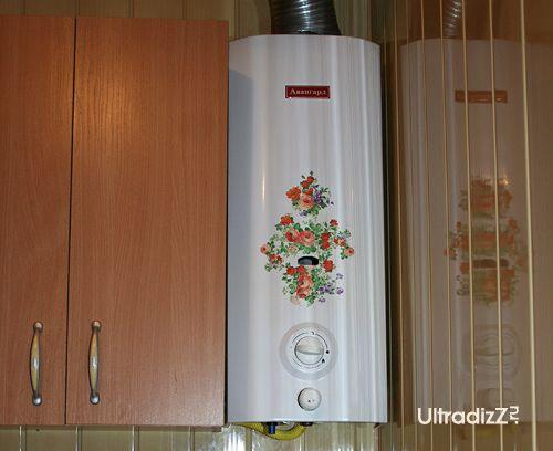 декупаж газового водонагревателя