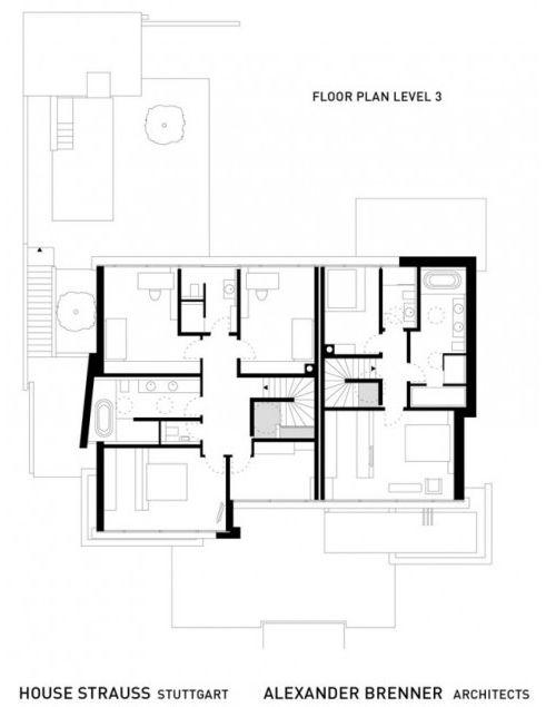 архитектурный проект третьего уровня большого дома