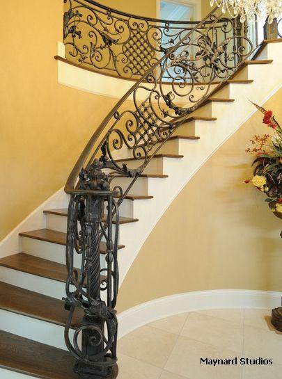 дизайнерское ограждение лестниц из металла