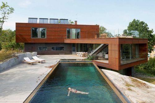 современная вилла с роскошным бассейном