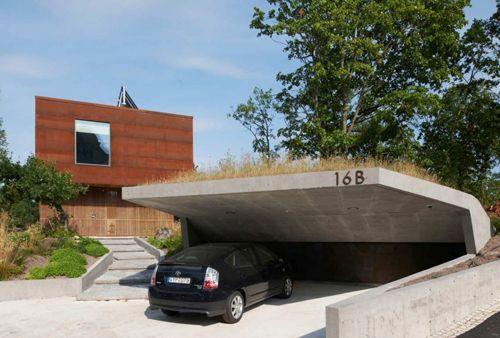 оригинальный дизайн крыши гаража