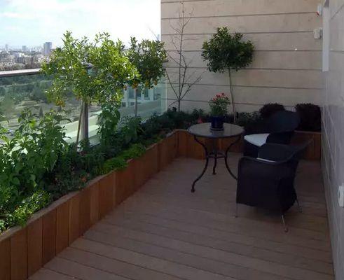 сад на балконе в современном стиле