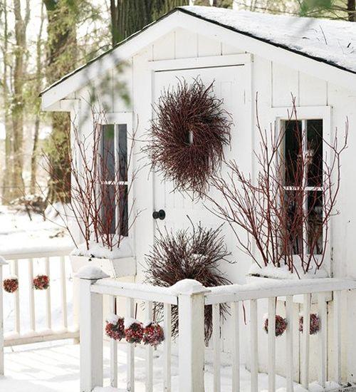 рождественские венки из веток