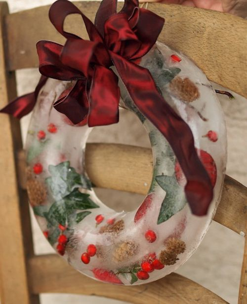 ледяной рождественский венок для наружного использования