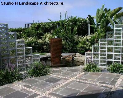 садовая перегородка из стеклоблоков