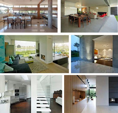 современный дизайн интерьера коттеджей