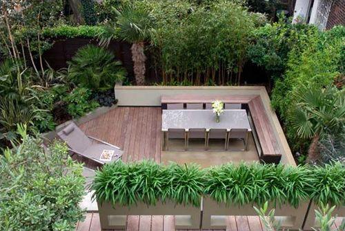 современный дизайн небольшого сада
