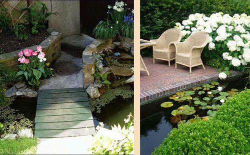 искусственные водоемы в небольших садах