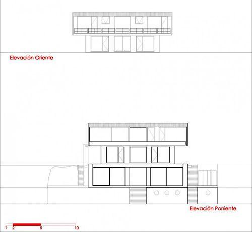 план загородного коттеджа на холме лист 3
