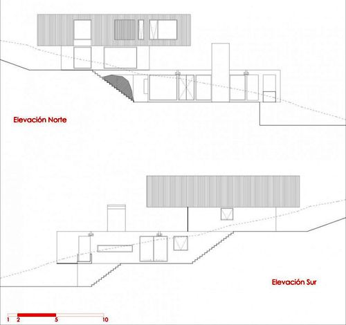 план загородного коттеджа на холме лист 2