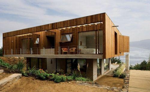 дизайн загородного коттеджа на холме