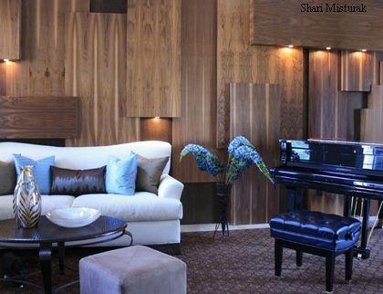 трехмерная облицовка стен деревянными панелями