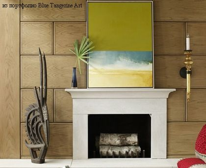 элегантная облицовка деревянными панелями