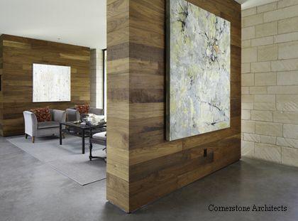 деревянные панели в современном интерьере