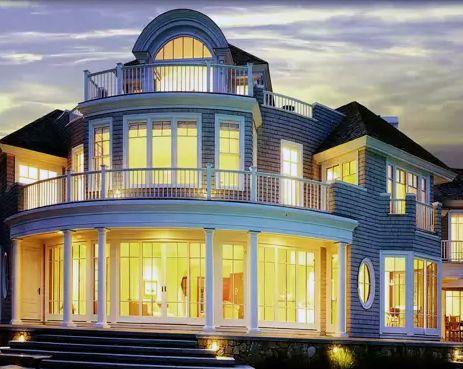 панорамные окна для дома классической архитектуры