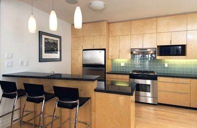 дизайн кухни студии в современном стиле