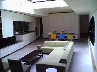 встроенная мебель в интерьере студии