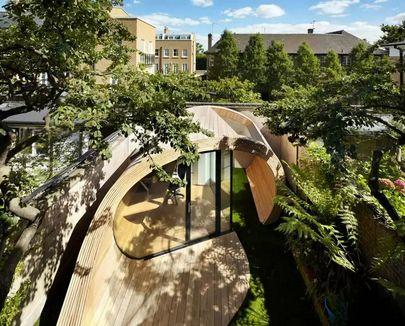оригинальный садовый павильон современного стиля