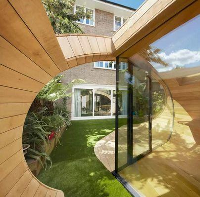 садовый павильон в форме раковины