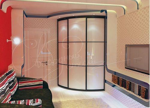 дизайнерский радиусный шкаф