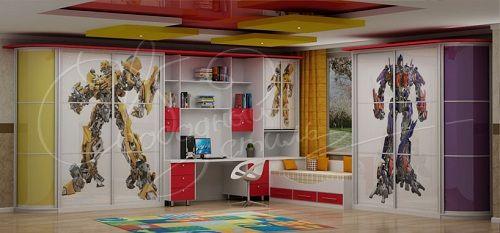 радиусные шкафы в детской