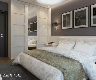фото декор в черно-белой спальне
