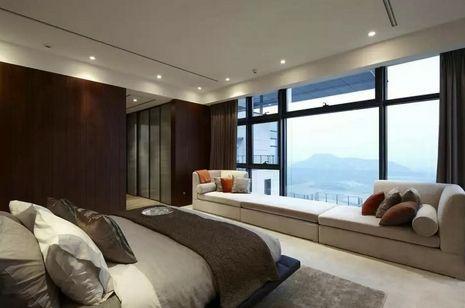элитный интерьер спальни в современном стиле