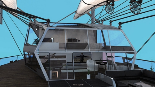 современная архитектура летучего дома