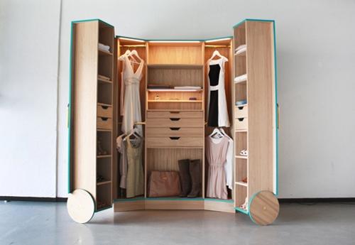 двустворчатый гардеробный шкаф