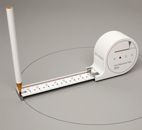 измерительная рулетка с функцией циркуля