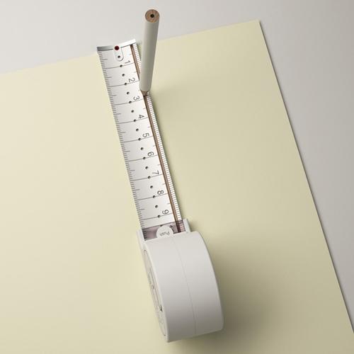 измерительная рулетка с пазом для точного прочерчивания линий