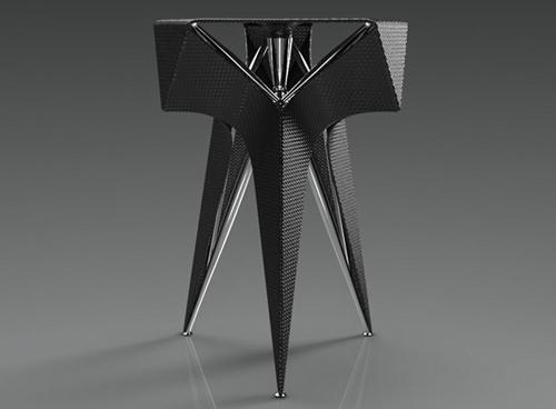 дизайнерский стул из углеродного волокна