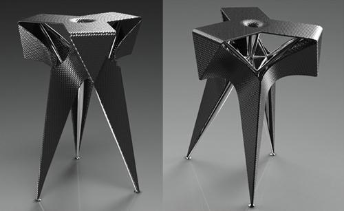 дизайнерский стул в форме оригами