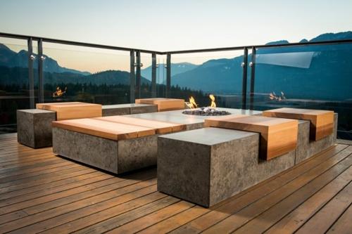 бетонная садовая мебель