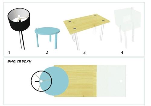 комплект универсальной мебели