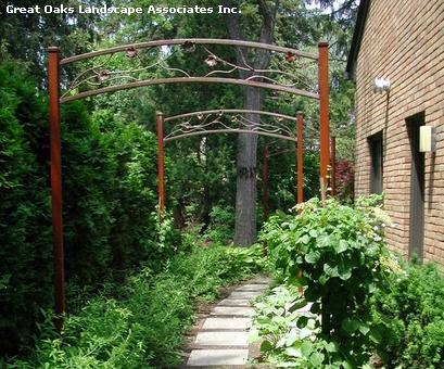 современные садовые арки