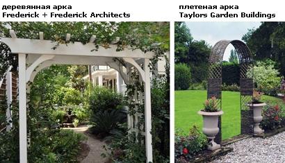 деревянные садовые арки