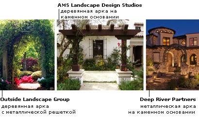 комбинированные садовые арки