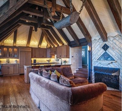 оригинальный декор интерьера гостиной