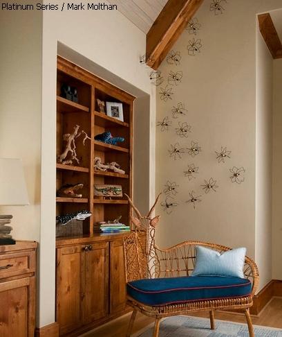 декор стены пауками
